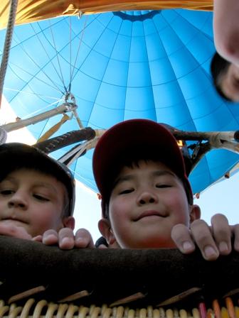Полет на воздушном шаре для детей
